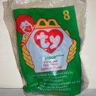 McDonald's 1998 Ty Teenie Beanie Babies #8 Scoop the Pelican Happy Meal Toy in Original Packaging