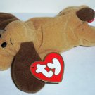 McDonald's 1998 Ty Teenie Beanie Babies Bones the Dog Happy Meal Toy w/ Swing Tag Loose Used