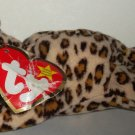 McDonald's 1999 Ty Teenie Beanie Babies Freckles the Leopard Happy Meal Toy Damaged Swing Tag Loose