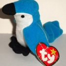 McDonald's 1999 Ty Teenie Beanie Babies Rocket the Blue Jay Happy Meal Toy Damaged Swing Tag Loose
