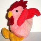 McDonald's 1999 Ty Teenie Beanie Babies Strut the Rooster Happy Meal Toy No Swing Tag Loose Used