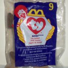 McDonald's 1998 Ty Teenie Beanie Babies Bones the Dog Happy Meal Toy in Original Packaging