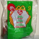McDonald's 1999 Ty Teenie Beanie Babies Claude the Crab Happy Meal Toy in Original Packaging