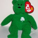 McDonald's 1999 Ty Teenie Beanie Babies International Bears Erin the Bear w/  Swing Tag Loose Used
