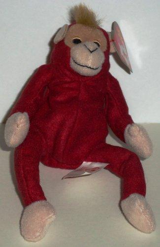 McDonald's 2000 Ty Teenie Beanie Babies Schweetheart the Orangutan Happy Meal Toy Creased Tag Loose