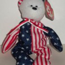 McDonald's 2000 Ty Teenie Beanie Babies Spangle the Bear Happy Meal Toy w/ Swing Tag Loose