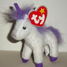 McDonald's 2009 Ty Teenie Beanie Babies Fable the Unicorn Happy Meal Toy with Swing Tag Loose