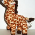McDonald's 2009 Ty Teenie Beanie Babies Topper The Giraffe Happy Meal Toy No Swing Tag Loose