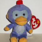 McDonald's 2009 Ty Teenie Beanie Babies Fez The Monkey Damaged Swing Tag Loose