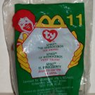 McDonald's 2000 Ty Teenie Beanie Babies Spike the Rhinoceros Happy Meal Toy in Original Packaging