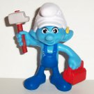 McDonald's 2013 Smurfs 2 Handy Smurf PVC Figure Happy Meal Toy  Loose Used