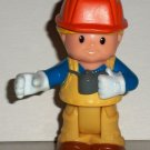 Fisher-Price Little People Construction Worker Eddie Figure from #M5134 Boulder Worksite Loose Used