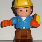 Fisher-Price Little People Construction Worker Roberto Figure Mattel 2007 Loose Used