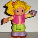 Fisher-Price Little People Sarah Lyn  with Butterfly Poseable Figure Loose Used