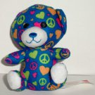 McDonald's 2012 Build-A-Bear Workshop Peace & Sweetheart Bear Happy Meal Toy Loose Used