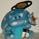 McDonald's 2005 Neopets Cloud Kacheek Happy Meal Toy w/ Clip & Damaged Swing Tag Loose Used