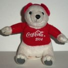 McDonald's 2004 Coca-Cola Holiday Polar Bear Plush Toy Loose Used