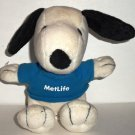 Peanuts Snoopy Wearing Metlife T-Shirt Plush Toy Loose Used