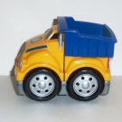 Mega Bloks Tiny n Tuff Yellow and Blue Dump Truck Loose Used