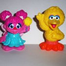 Playskool Sesame Street Abby Cadabby and Big Bird Figures from 2-Pack Loose Used