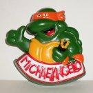 Burger King 1990 Teenage Mutant Ninja Turtles Rad Badges Michaelangelo Happy Meal Toy Loose Used