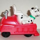 McDonald's 2000 Disney's 102 Dalmatians Dog in Red Fire Engine Happy Meal Toy 101 Loose