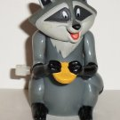 Burger King 1995 Disney's Pocahontas Meeko Wind-Up Racoon Kids' Meal Toy Loose Used