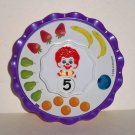 McDonald's 2008 Baby Ronald Counting Wheel U3 Happy Meal Toy Loose Used