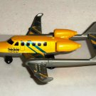 Matchbox Sky Busters 2009 Twin Boom Yellow Diecast Toy Airplane Skybusters Loose Used