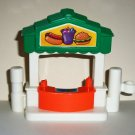 Fisher-Price 2004 Little People Food Stand  from C4284 Discovery Village Set Loose Used
