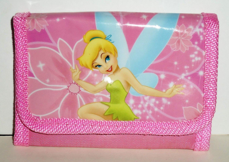 Disney Tinker Bell Tri-fold Wallet Peter Pan Billfold Tinkerbell Loose Used