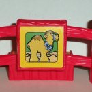 Fisher-Price Little People Red Fence Piece with Camel Litho Loose Used