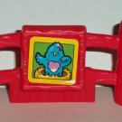Fisher-Price Little People Red Fence Piece with Bird Litho Loose Used