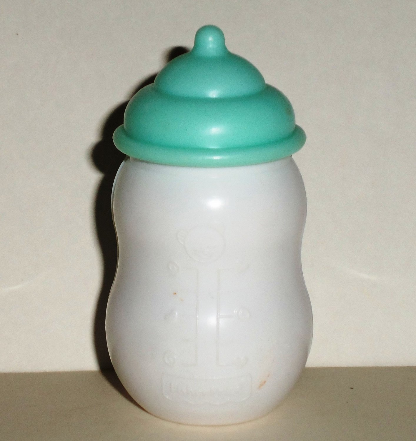Fisher-Price 2002 Little Mommy Baby Bottle with Light Blue Top Loose Used