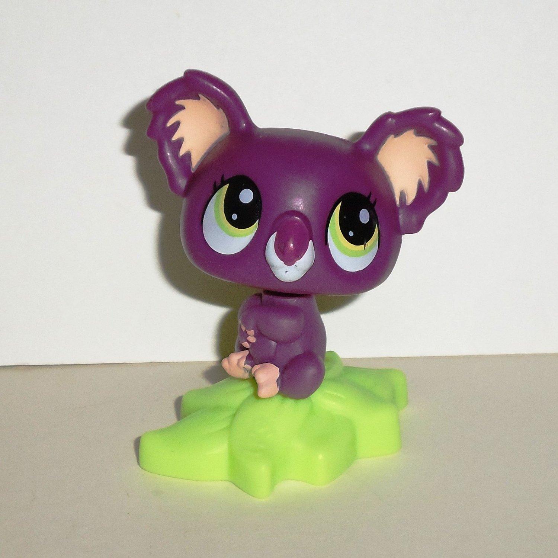 McDonald's 2010 Littlest Pet Shop Purple Koala Bear Figure Only Happy Meal Toy Hasbro Loose Used