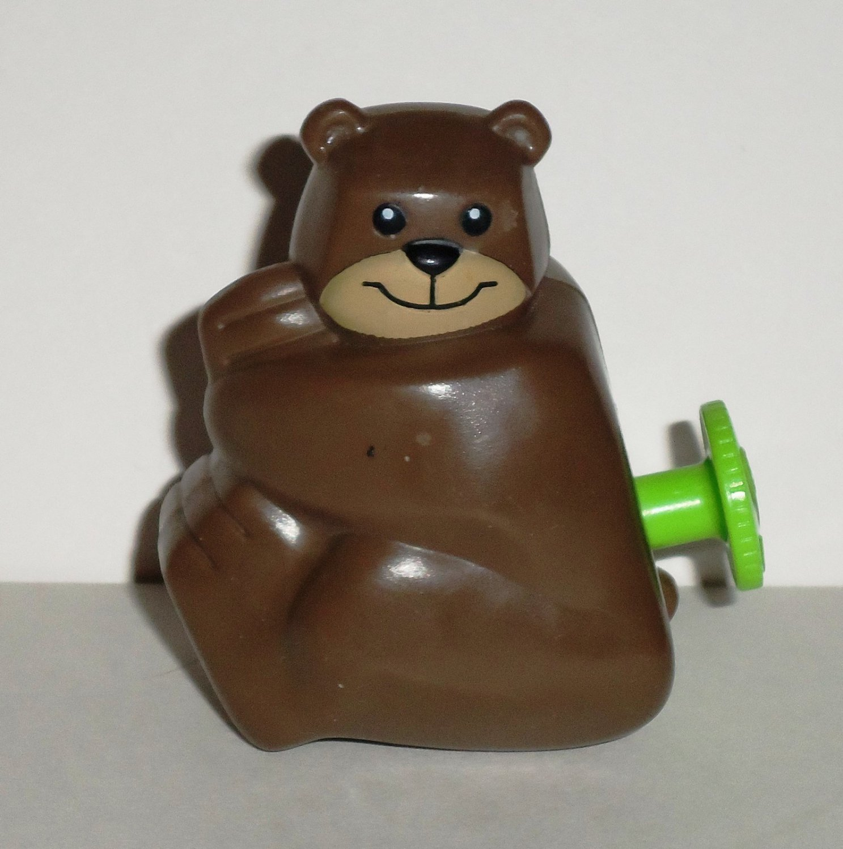 Burger King 2008 Crayola Kids' Choice Colors Brown Bear Wiggler Kids Meal Toy Tomy Loose Used