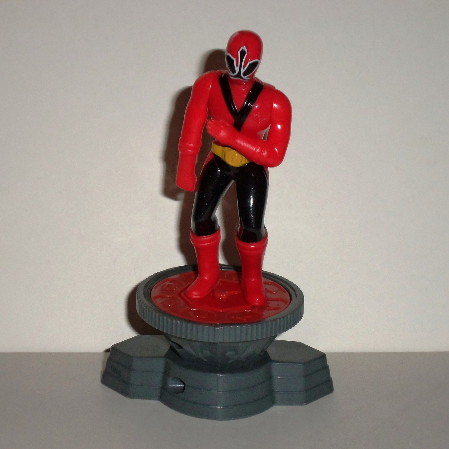 McDonald's 2011 Power Rangers Samurai Red Ranger with Base Happy Meal Toy Loose Used