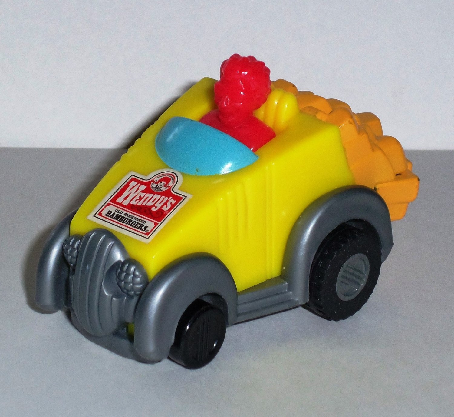 Wendy's 1998 On Wheels French Fries Car Kids' Meal Toy Loose Used