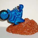 Wendy's 2003 Motocross Blue Motorcycle Moto Cross Kids Meal Toy Loose Used
