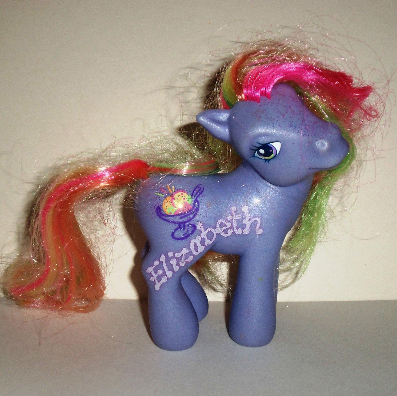 My Little Pony Rainbow Swirl Sparkle Pony G3 Hasbro 2004 Loose Used