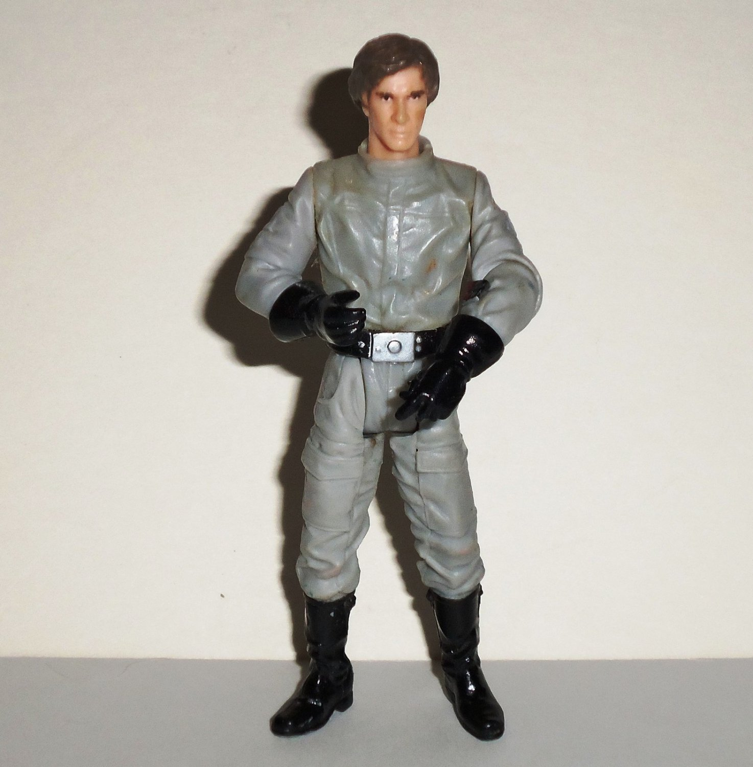 Star Wars Saga Han Solo Endor Strike Action Figure Hasbro 2004 Loose Used