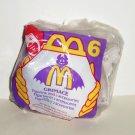 McDonald's 1995 Halloween Grimace Figurine w/ Ghost Happy Meal Toy NIP
