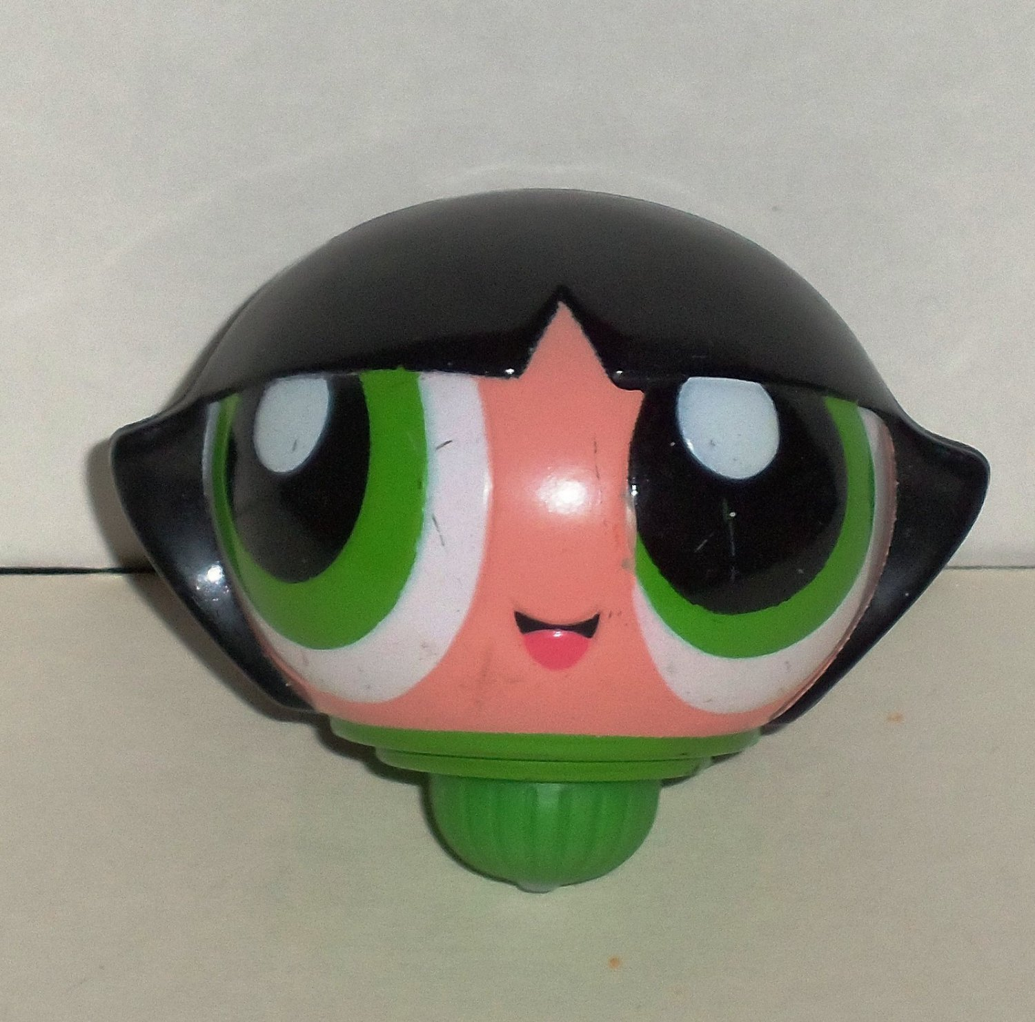 Kellogg s powerpuff girls buttercup spinning top toy loose used