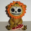 Furrybones Raion Resin Figurine Damaged Lion Skull Zombie Loose Used