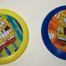 SpongeBob Squarepants Lot of 2 Mini Flying Discs What Kids Want Loose