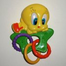 Baby Looney Tunes Tweety Rattle Green Star Loose Used