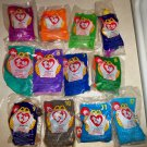 McDonald's 1998 Ty Teenie Beanie Babies Set of 12 Happy Meal Toy Still in Bags
