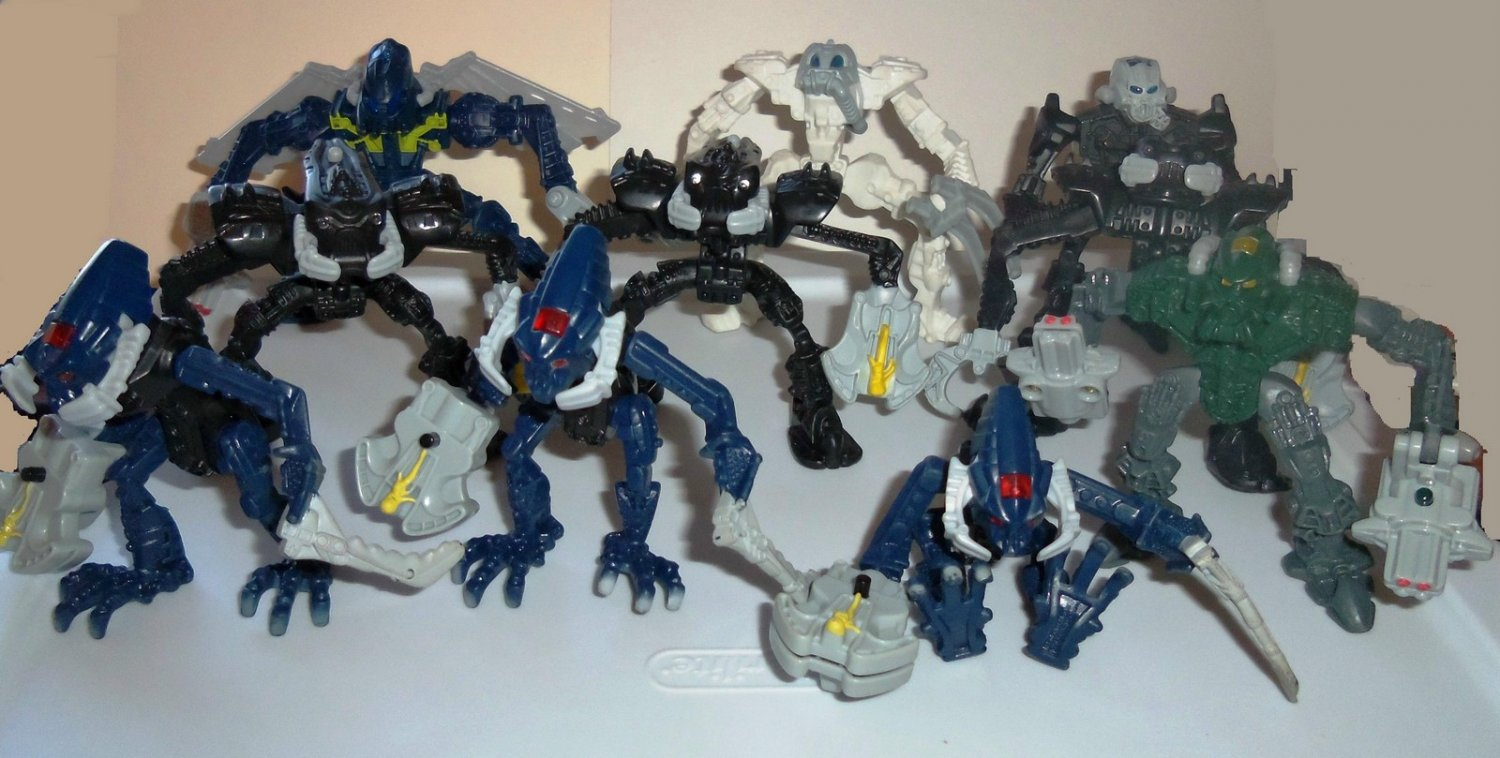 Mcdonalds 2007 Lego Bionicle Happy Meal Toys Lot Of 10