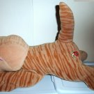 "Pound Puppies Purries 14"" Tan Striped Cat Stuffed Plush Toy Tonka Kitten Loose Used"