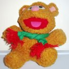 McDonald's 1988 Muppet Babies Holiday Promotion Fozzie Bear Plush Happy Meal Toy Loose Used